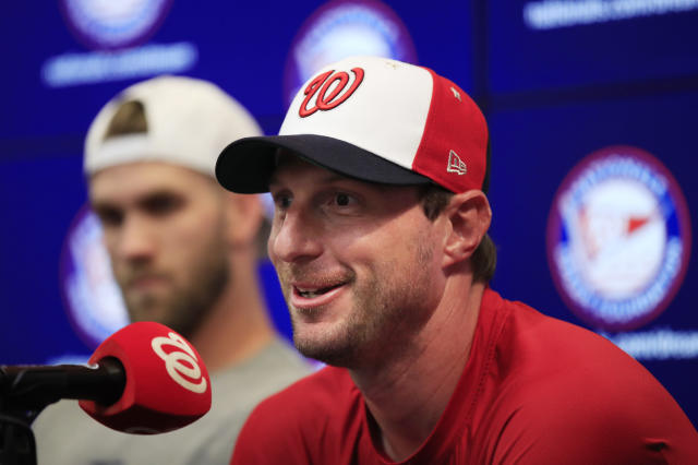 Washington Nationals pitcher Max Scherzer is Yahoo Sports' first-half MVP and NL Cy Young winner. (AP Photo/Manuel Balce Ceneta)