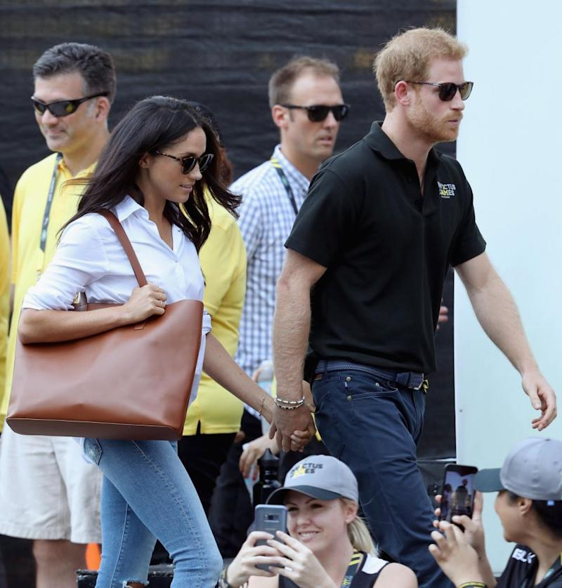 It comes just weeks after Prince Harry and Meghan Markle made their first public appearance together at the Invictus Games. Photo: Getty Images