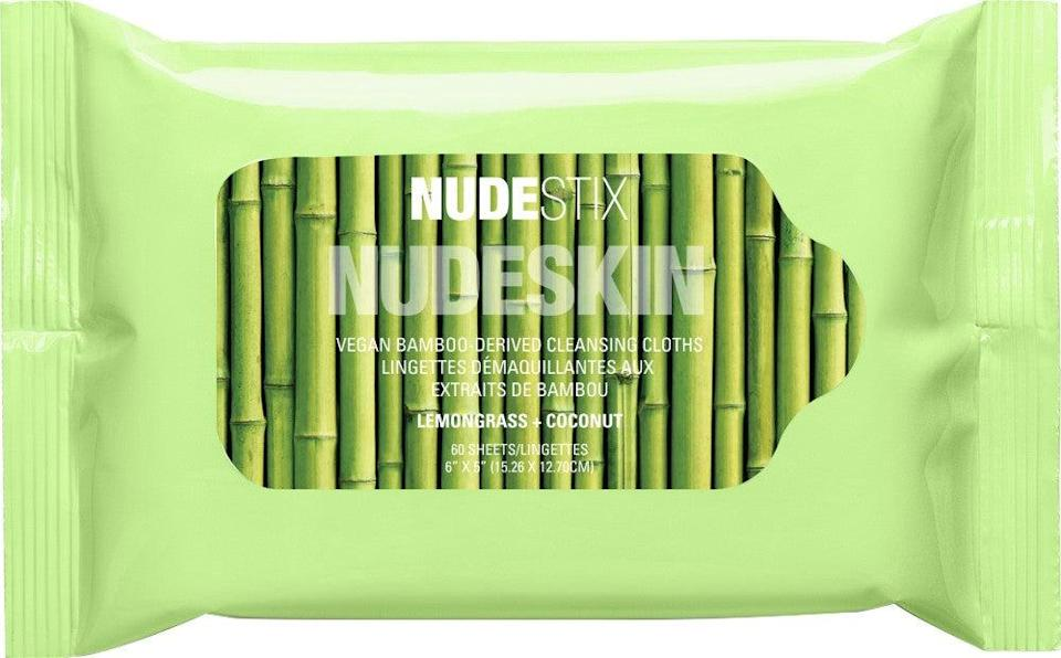 "<h3>Nudestix NUDESKIN Vegan Bamboo Cleansing Cloths<br></h3><br>A hint of citrus, chamomile, and cucumber extracts make removing your waterproof mascara an all-around sensorial treat.<br><br><strong>NudeStix</strong> NUDESKIN Vegan Bamboo Cleansing Cloths, $, available at <a href=""https://go.skimresources.com/?id=30283X879131&url=https%3A%2F%2Fwww.ulta.com%2Fnudeskin-vegan-bamboo-cleansing-cloths%3FproductId%3Dpimprod2019588"" rel=""nofollow noopener"" target=""_blank"" data-ylk=""slk:Ulta Beauty"" class=""link rapid-noclick-resp"">Ulta Beauty</a>"