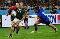 South Africa wing Cheslin Kolbe has been in electric form (AFP Photo/Anne-Christine POUJOULAT)