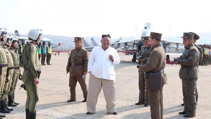 Kim Jong-un was last pictured at an inspection in images released on 12 April by state authorities