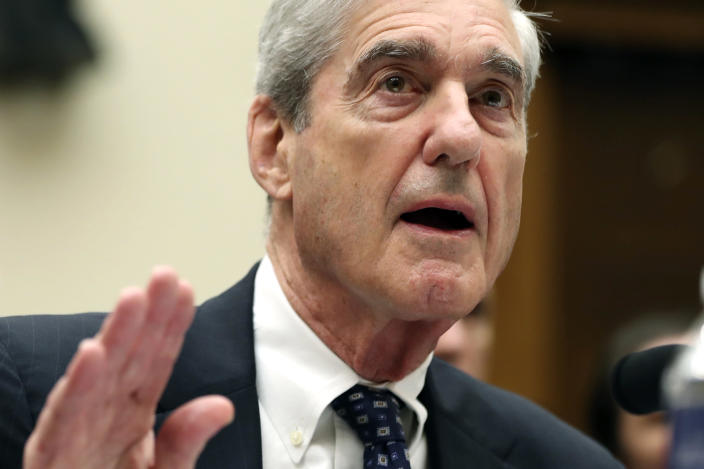 Former special counsel Robert Mueller testifies before the House Judiciary Committee. (Photo: Andrew Harnik/AP)