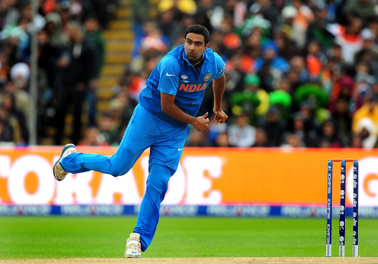 India's Ravichandran Ashwin during the ICC Champions Trophy match at Edgbaston, Birmingham. PRESS ASSOCIATION Photo. Picture date: Saturday June 15, 2013. See PA story CRICKET India. Photo credit should read: Rui Vieira/PA Wire. RESTRICTIONS: Use subject to restrictions. Editorial use only. No commercial use. Call 44 (0)1158 447447 for further information.