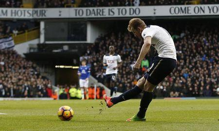 Tottenham's Harry Kane scores their second goal