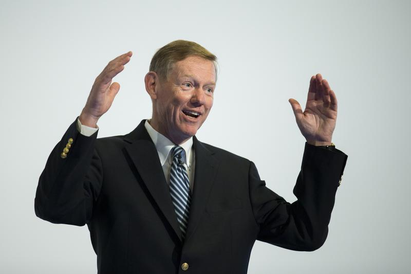 Ford CEO Mulally speaks at automotive industry conference in Berlin