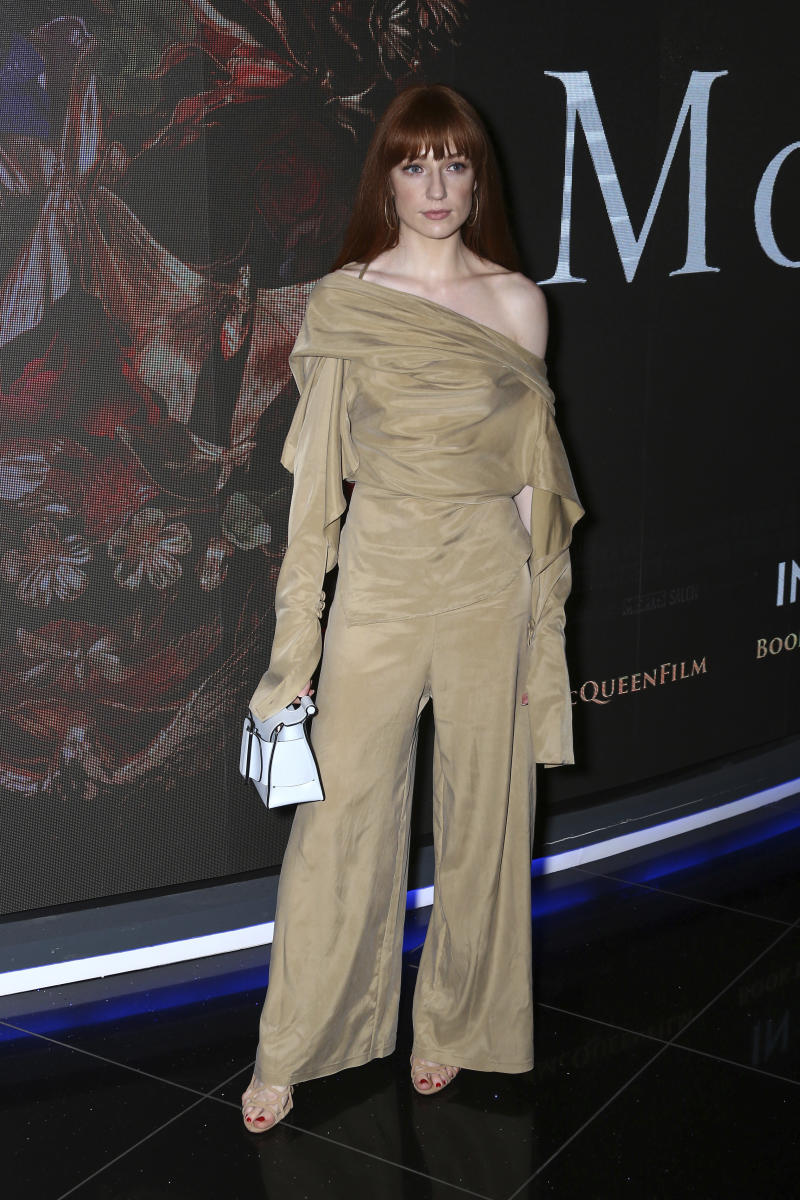Nicola Roberts poses for photographers upon arrival at the premiere of McQueen in central London, Monday, June 4, 2018. (Photo by Joel C Ryan/Invision/AP)
