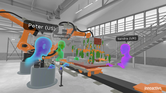 Virtual reality training for car assembly line workers feels