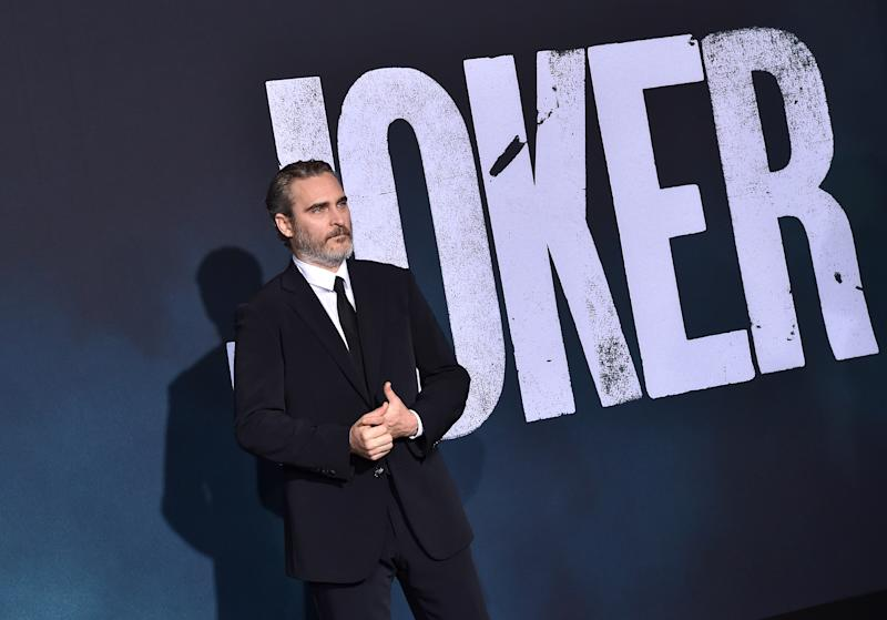 "Joaquin Phoenix attends the Premiere of Warner Bros Pictures ""Joker"" on September 28, 2019. (Photo by Axelle/Bauer-Griffin/FilmMagic)"