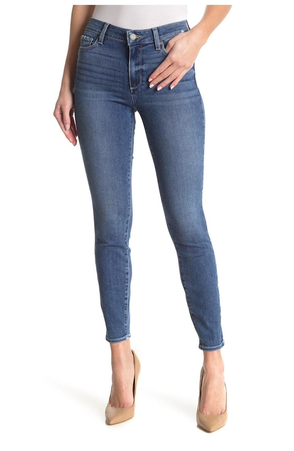 """<h2>Paige Hoxton Ankle Skinny Jeans</h2><br><strong><em>The Committed-To-Skinny-Jeans Style</em></strong><br><br>For those of us who aren't ready to go full-on Gen-Z just yet, consider Paige premium denim as your solid source for top-selling skinny jeans styles. The Hoxton style is a favorite among Nordstrom Rack shoppers who praise its classic cut and easy fit. <br><br><strong>The Hype: </strong>4.5 out of 5 stars; 11 reviews on NordstromRack.com <br><br><strong>What They're Saying</strong>: """"New favorite pair of blues: Great cut makes for a great fit. Denim has nice weight to it as it is mostly cotton. Love that they are slim, but not clinging like sausage casing. Waist is mid-to-high without gap in small of back or looking like 'mom jeans'."""" — Stellatex, NordstromRack.com reviewer<br><em><br>Shop <strong><a href=""""https://www.nordstromrack.com/s/paige-hoxton-ankle-skinny-jeans/6044109"""" rel=""""nofollow noopener"""" target=""""_blank"""" data-ylk=""""slk:NordstromRack.com"""" class=""""link rapid-noclick-resp"""">NordstromRack.com</a></strong></em><br><br><br><br><br><strong>PAIGE</strong> Hoxton Ankle Skinny Jeans, $, available at <a href=""""https://go.skimresources.com/?id=30283X879131&url=https%3A%2F%2Fwww.nordstromrack.com%2Fs%2Fpaige-hoxton-ankle-skinny-jeans%2F6044109"""" rel=""""nofollow noopener"""" target=""""_blank"""" data-ylk=""""slk:Nordstrom Rack"""" class=""""link rapid-noclick-resp"""">Nordstrom Rack</a>"""