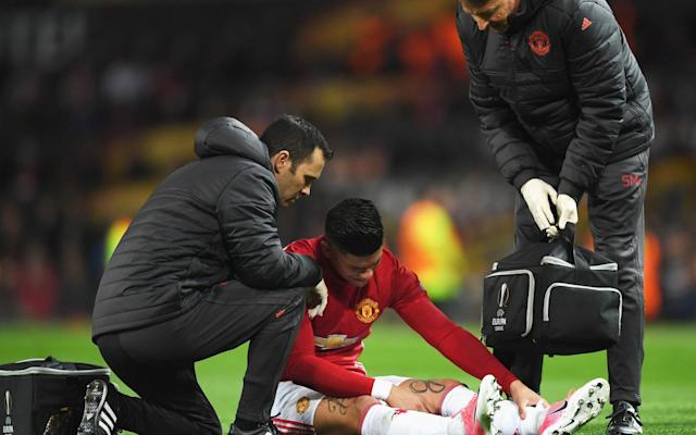 <span>Rojo also went off injured</span>