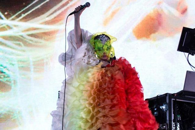Björk at FYF. (Photo: Santiago Felipe for FYF Fest)