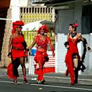 """<p><strong>When</strong>: Feb. 23-26</p> <p>Part of the Lesser Antilles, this French Caribbean island carries on its Carnival all the way into Ash Wednesday. While beginning in January, with parties and a Carnival queens parade happening every weekend, the full festivities start on Fat Sunday, or Dimanche Gras. On this day, <a href=""""https://martiniquepro.org/event/carnival-celebration-in-martinique/"""" class=""""link rapid-noclick-resp"""" rel=""""nofollow noopener"""" target=""""_blank"""" data-ylk=""""slk:Martinique"""">Martinique</a> is full of daytime parades, with marchers in costume and carrying fancy-dressed puppets known as bwa bwa. Monday is a day for """"mock weddings,"""" in which men and women trade places wearing <a class=""""link rapid-noclick-resp"""" href=""""https://www.popsugar.com/Wedding"""" rel=""""nofollow noopener"""" target=""""_blank"""" data-ylk=""""slk:wedding"""">wedding</a> attire. Then Tuesday gets a bit devilish; it's known as Red Devils Day, and groupings of red-wearing figures dance about until sundown. Finishing up on Ash Wednesday, revelers wear black and white to mourn the end of this festive period.</p>"""