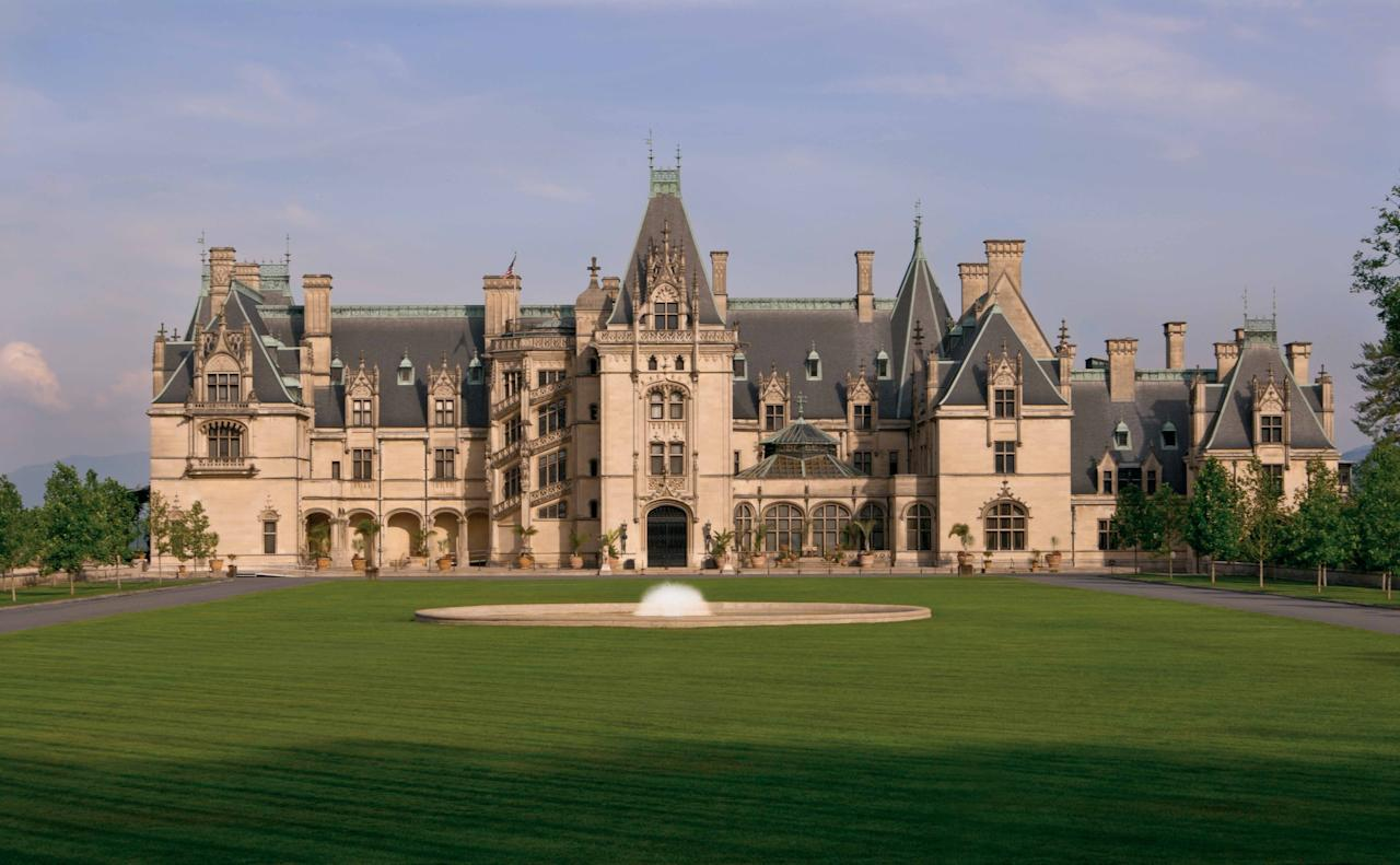 "Known as America's largest home, <a href=""https://www.biltmore.com/"">Biltmore House</a> boasts 250 rooms and the square footage of four football fields. The massive manse was built by George Vanderbilt, in collaboration with architect Richard Morris Hunt and landscape architect Frederick Law Olmsted, over a period of six years. The 8,000-acre estate now includes a winery and a village with a hotel, shops, and restaurants."