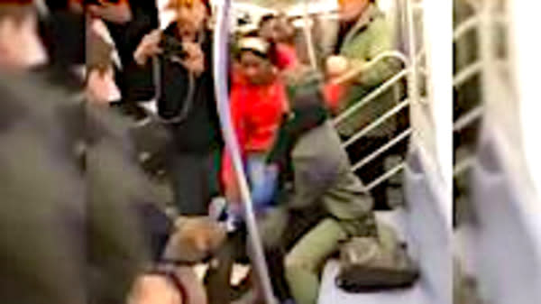 Dog Bites Woman On New York Subway After Allegedly Being Pushed