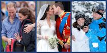 """<p>We've been following <a href=""""https://www.townandcountrymag.com/the-scene/weddings/g20052313/kate-middleton-prince-william-royal-wedding-2011-photos/"""" rel=""""nofollow noopener"""" target=""""_blank"""" data-ylk=""""slk:Prince William and Kate Middleton's royal romance"""" class=""""link rapid-noclick-resp"""">Prince William and Kate Middleton's royal romance</a> for well over a decade now—and it's touching to see that there's still a spark between them. Below, see the couple evolve from lovestruck youngsters to happy parents with over two dozen of their cutest photos together.</p>"""