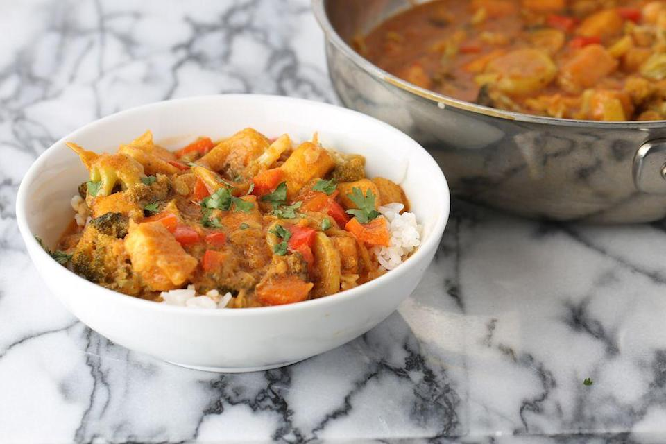 "<p>This recipe proves coconut milk and tofu were made for each other.</p><p>Get the recipe from <a href=""/cooking/recipe-ideas/recipes/a42600/coconut-milk-and-tofu-curry/"" data-ylk=""slk:Delish."" class=""link rapid-noclick-resp"">Delish.</a><br></p>"