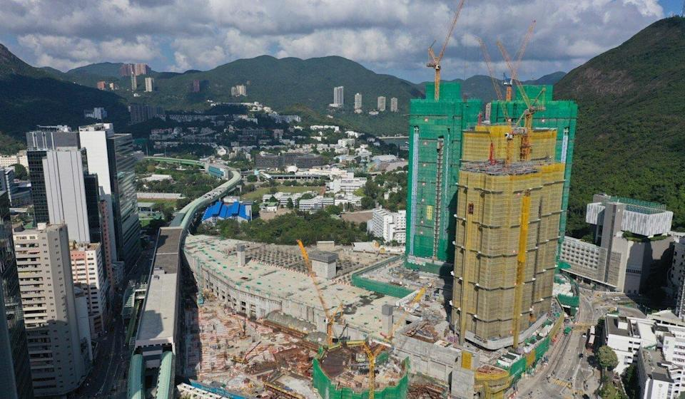 Work on the South Land property project in Wong Chuk Hang continues in May. Photo: May Tse