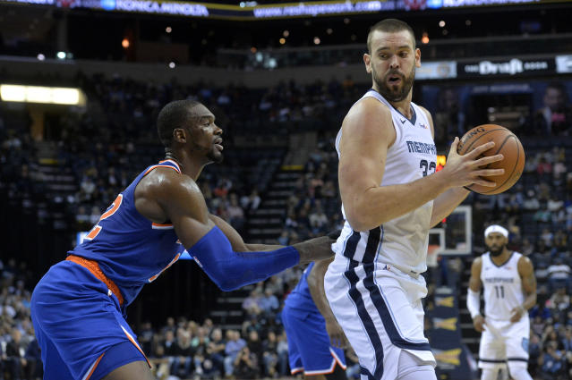 Memphis Grizzlies center Marc Gasol and New York Knicks big man Noah Vonleh both crack the Contract Year All-Stars. (AP)