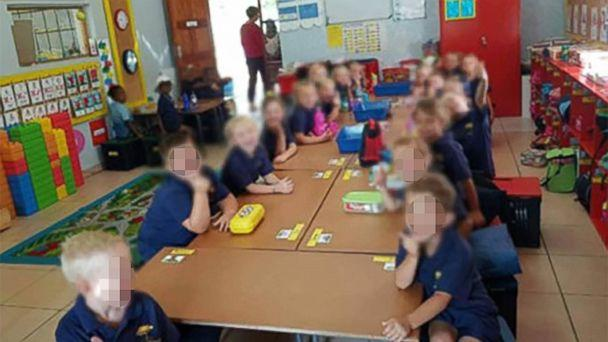 PHOTO: This photo, widely shared on social media, shows four black children sitting separately from their white classmates and is part of an investigation launched by North West Provincial Education Department. (WhatsApp)