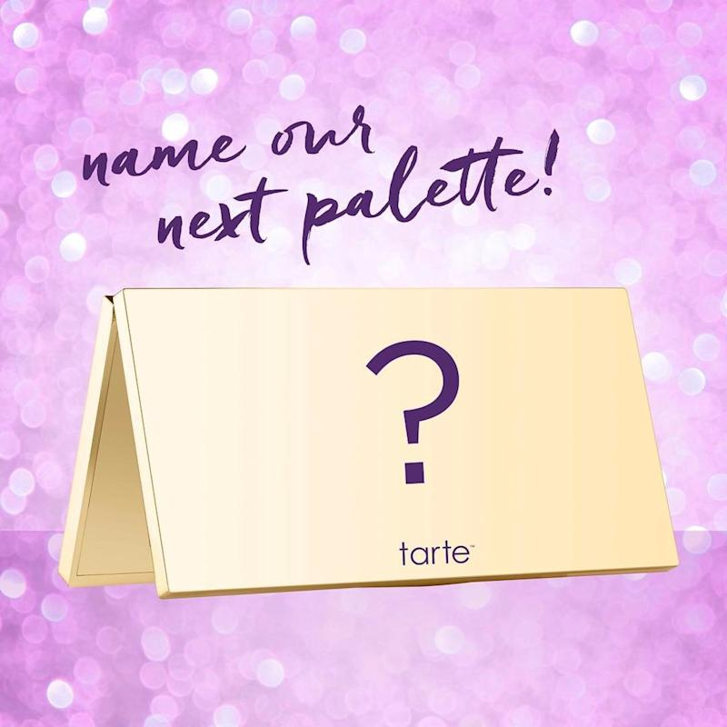 Act Fast! YOU Can Help Name Tarte and Ulta's Upcoming Palette
