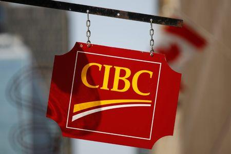 A Canadian Imperial Bank of Commerce sign is seen outside of a branch in Ottawa