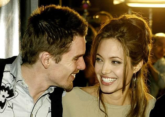 Ethan Hawke and Angelina Jolie 2004 -- Getty Images