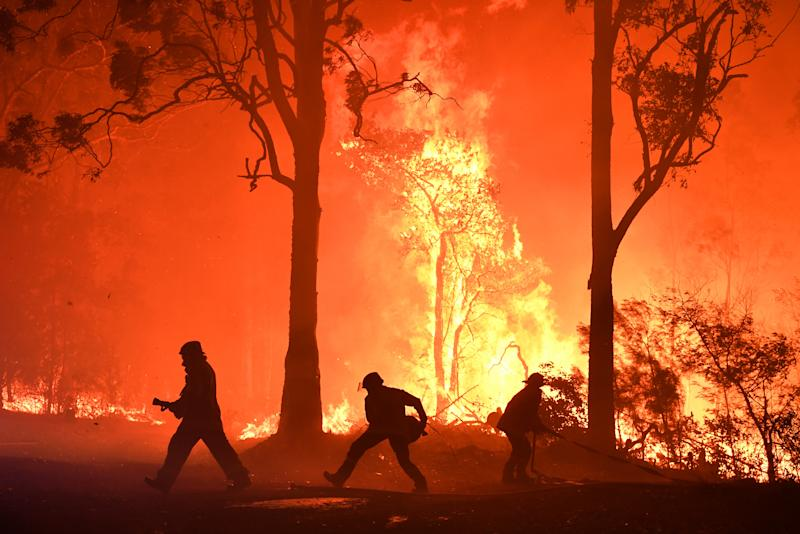Firefighters continue to be pushed to their limits at fires closing in on Sydney. Source: AAP