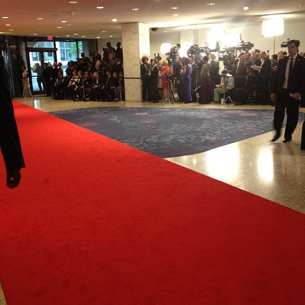There's a red carpet at the #WHCD. I think you can make out the Undersecretary of Fun.