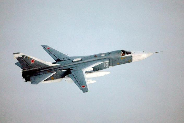 A Russian Su-24 Fencer nearly collided with two US A-10s, US officials say (AFP Photo/)