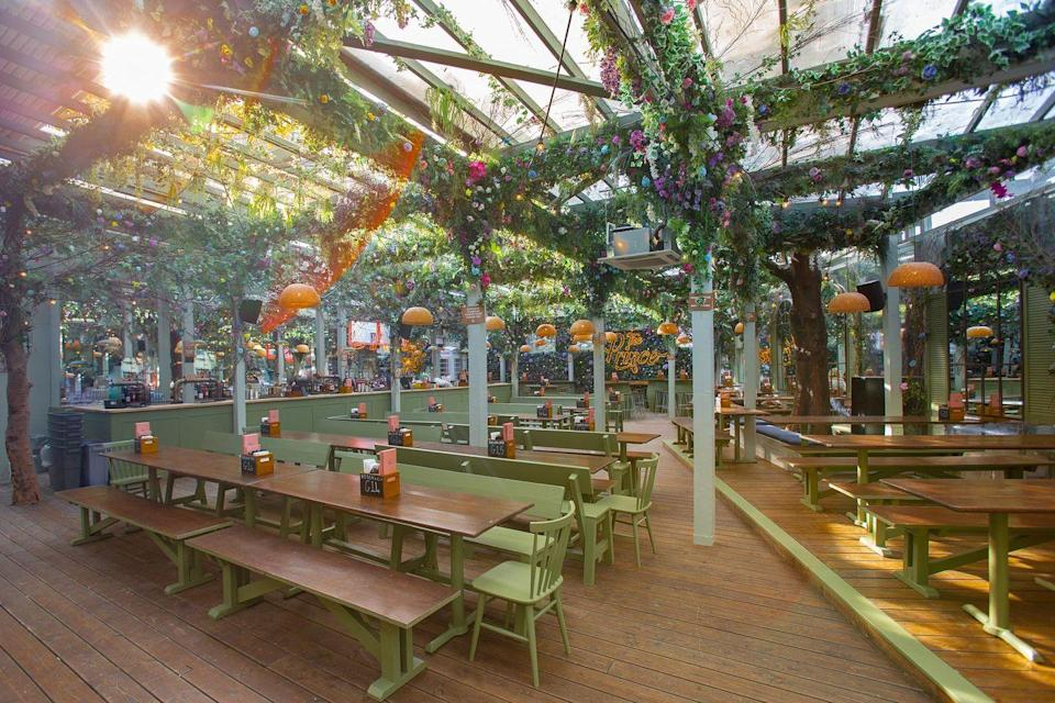 "<p>Home to London's biggest heated beer garden, <a href=""https://www.theprincelondon.com/"" rel=""nofollow noopener"" target=""_blank"" data-ylk=""slk:The Prince"" class=""link rapid-noclick-resp"">The Prince</a> are opening up the extractable roof to allow for groups of six to meet outside. As usual, the resident food traders at the pub (Filth&Co, Boludo Latin street food and Rudie's jerk shack) are on site, as is plenty of beer on tap and winter cocktails. </p>"