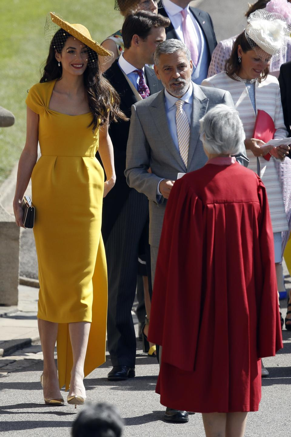 Amal and George Clooney at Windsor Castle.