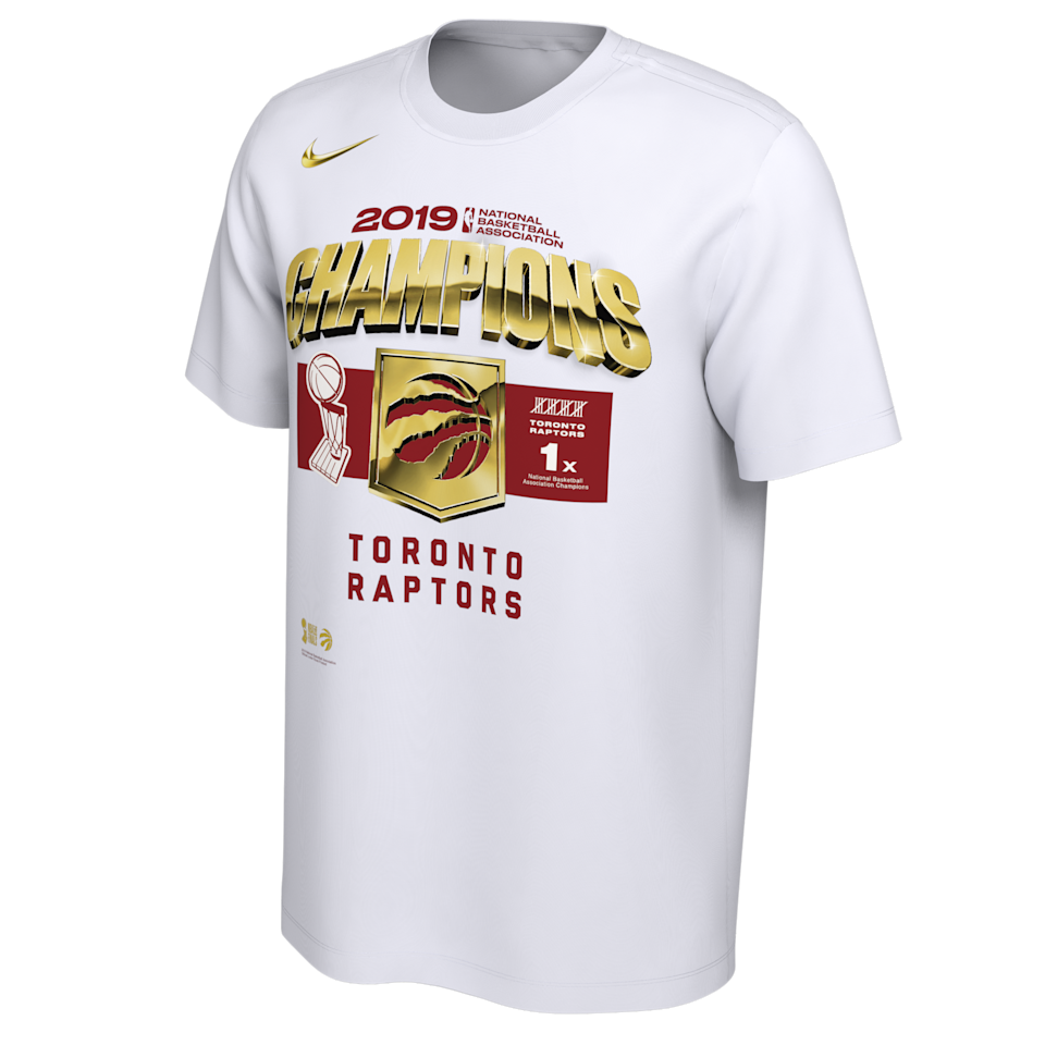 Toronto Raptors Men's Nike 2019 Locker Room Champs Tee
