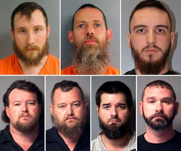 PHOTO: Pictured in the top row are Joseph Morrison, Pete Musico and Paul Bellar; on the bottom row are Michael Null, William Null, Eric Molitor and Shawn Fix. (Antrim County Sheriff/Richland County PIO/Jackson County Sheriff)