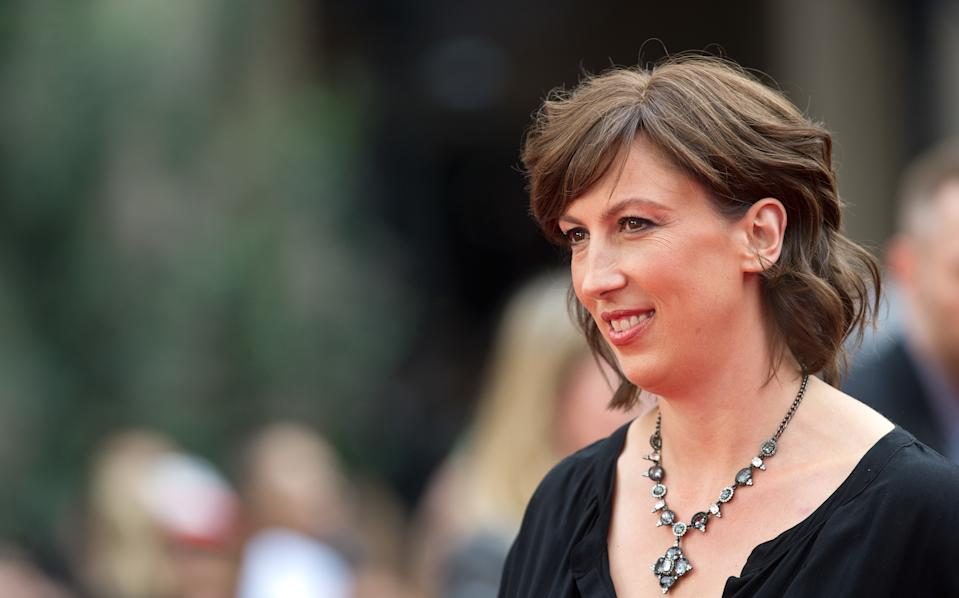 """Miranda Hart arriving at the UK premiere of """"Spy"""" at the Odeon Leicester Square in London. (Photo by Zak Hussein/Corbis via Getty Images)"""