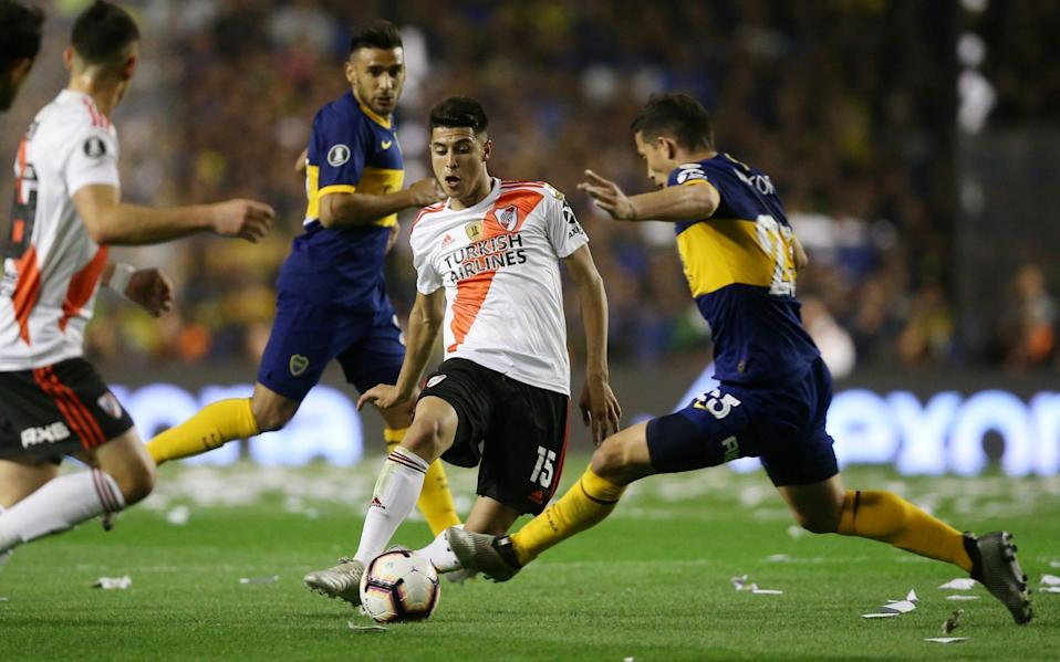 Gloria launched on Monday in Argentina to try and help get amateur footballers in front of Boca Juniors scouts - REUTERS