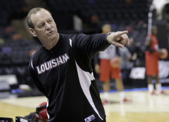 Louisiana-Lafayette head coach Bob Marlin kicked off next-level NIT beef when he trashed LSU and its facilities. (AP)