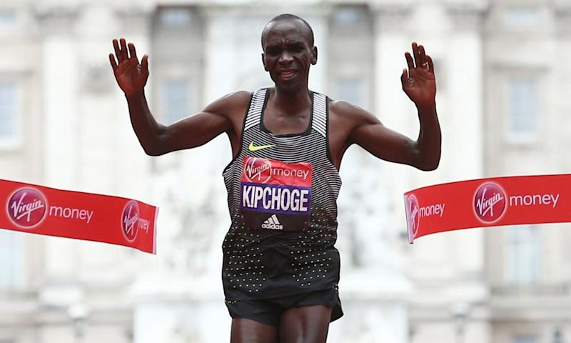 Eliud Kipchoge, of Kenya, won the London marathon in a course record in 2016.