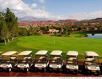"<b><a target=""_blank"" href=""https://homes.yahoo.com/search/Utah/St_George/homes-for-sale"">St. George, UT</a></b><br><br><b>Best if you're looking for:</b> Resort area<br><b>Median home price:</b> $264,500<br><b>Top state income tax:</b> 5%<br><br>Two hours northeast of Las Vegas, St. George is a favorite spot for both snowbirds and full-time retirees. Golfers can play on a dozen different courses in more than 300 days of sun. Hikers can traverse any number of trails in or near town, or take an hour's drive to Zion National Park.<br><br>While nature has carved monolithic masterpieces in the surrounding countryside, area artists are just as prolific; St. George's Tony Award--winning Utah Shakespeare Festival runs from June through October.<br><br>Meanwhile, the Tuacahn Amphitheatre in nearby Ivins brings Broadway shows and other big acts to its $25 million venue."