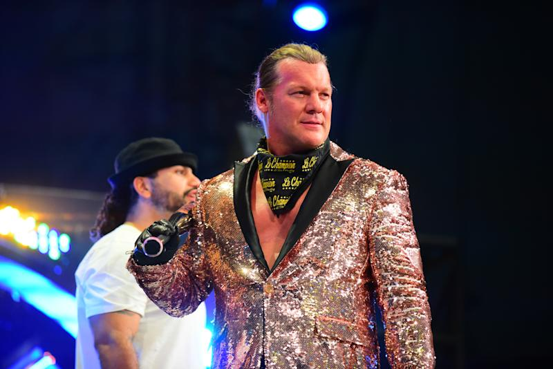 "Chris Jericho during an episode of All Elite Wrestling's ""Dynamite"" program. (Credit: AEW)"