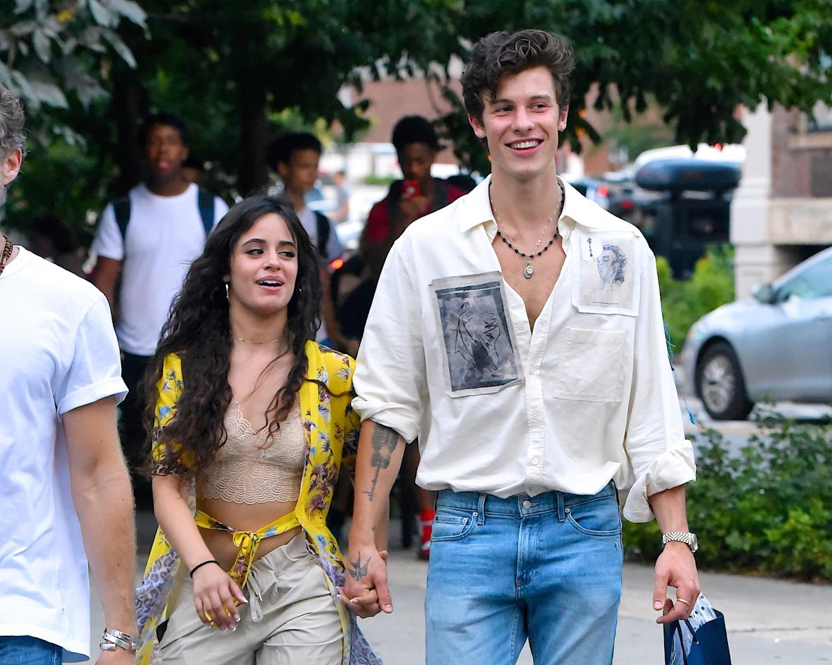 """<p>Up until now, it's only been rumored if these two have a real relationship. Well, this is all the proof we need. Shawn and Camila were seen during a <a href=""""https://www.popsugar.com/celebrity/Camila-Cabello-Shawn-Mendes-Kissing-Miami-Pictures-46433507"""" style=""""background-color: rgb(255, 255, 255);"""" target=""""_blank"""" class=""""ga-track"""" data-ga-category=""""Related"""" data-ga-label=""""http://www.popsugar.com/latina/Camila-Cabello-Shawn-Mendes-Kissing-Miami-Pictures-46433507"""" data-ga-action=""""In-Line Links"""">major PDA session in Miami Beach</a>. If only that pool could talk . . .</p>"""
