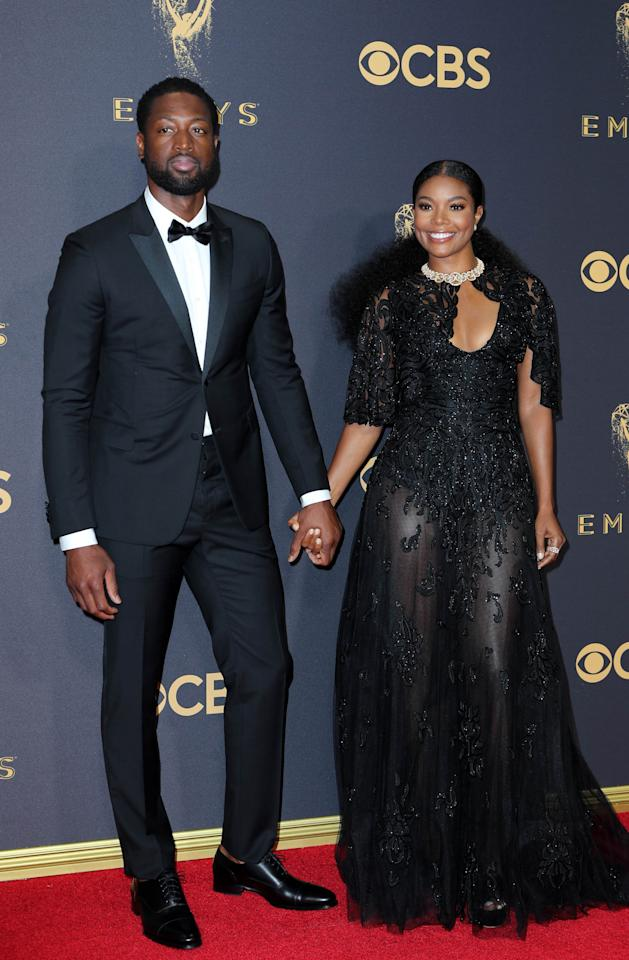 69th Primetime Emmy Awards – Arrivals – Los Angeles, California, U.S., 17/09/2017 - Actress Gabrielle Union and NBA basketball player Dwayne Wade. REUTERS/Mike Blake