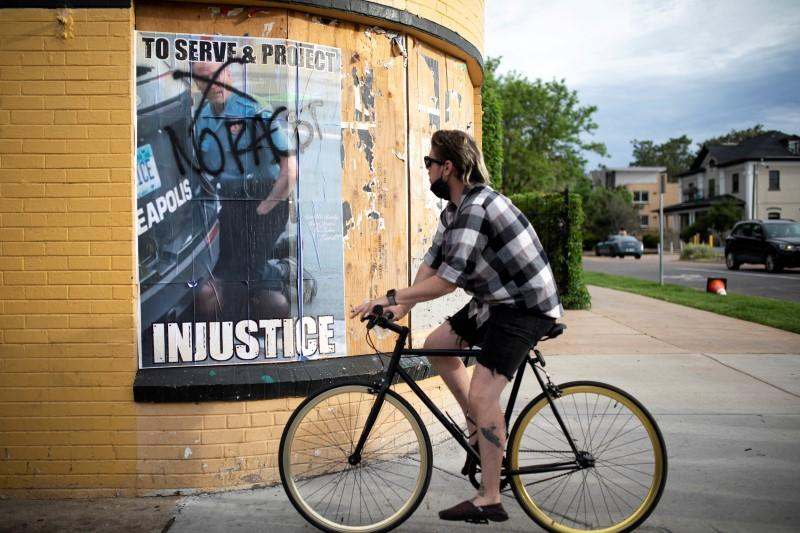 FILE PHOTO: March against the death in Minneapolis police custody of George Floyd, in Denver, Colorado