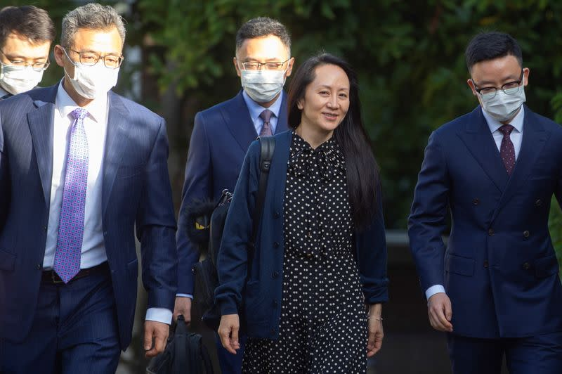 Huawei Technologies Chief Financial Officer Meng Wanzhou arrives to attend court in Vancouver
