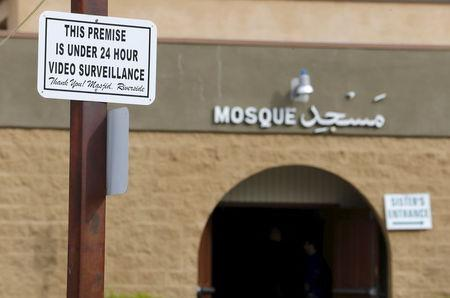 Shown is the mosque where shooting suspect Syed Farook attended and held his wedding reception in Riverside, California