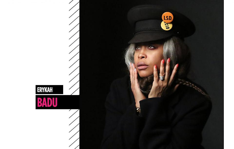 <p>Whether she's giving us a gray hair moment or rocking multicolored nail art, Erykah Badu's avant-garde beauty never fails to dazzle. (Photo: Getty Images) </p>