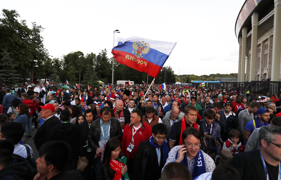 Russian soccer fans better be careful if this law is passed. (AP Photo)