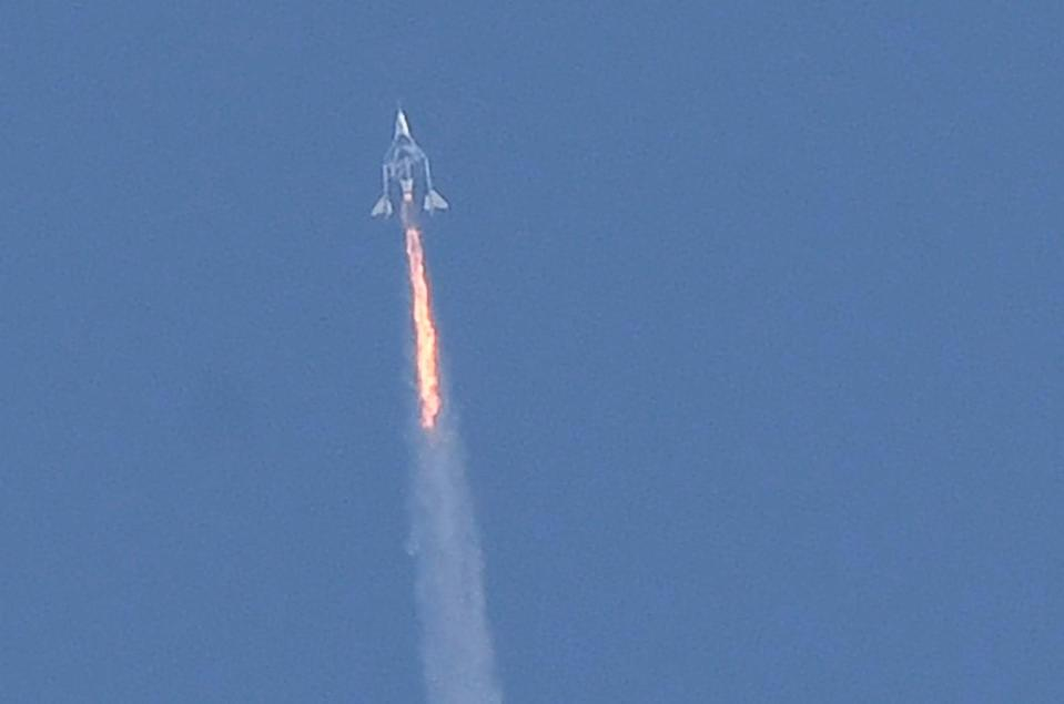 Bring out the Branson: The entrepreneur reaches the edge of space (AFP via Getty Images)