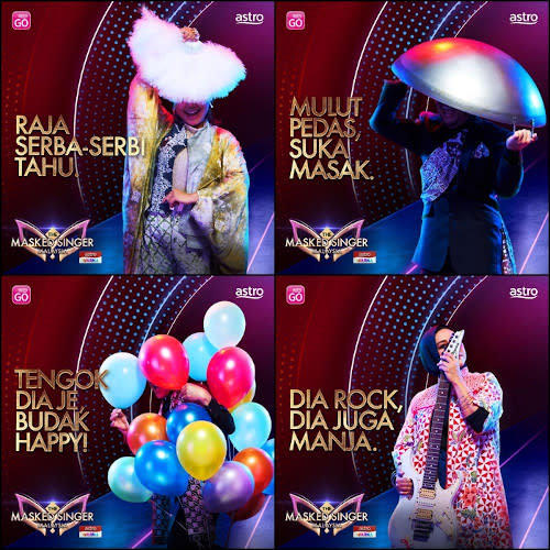 """""""The Masked Singer Malaysia"""" images tweeted by Astro last month."""