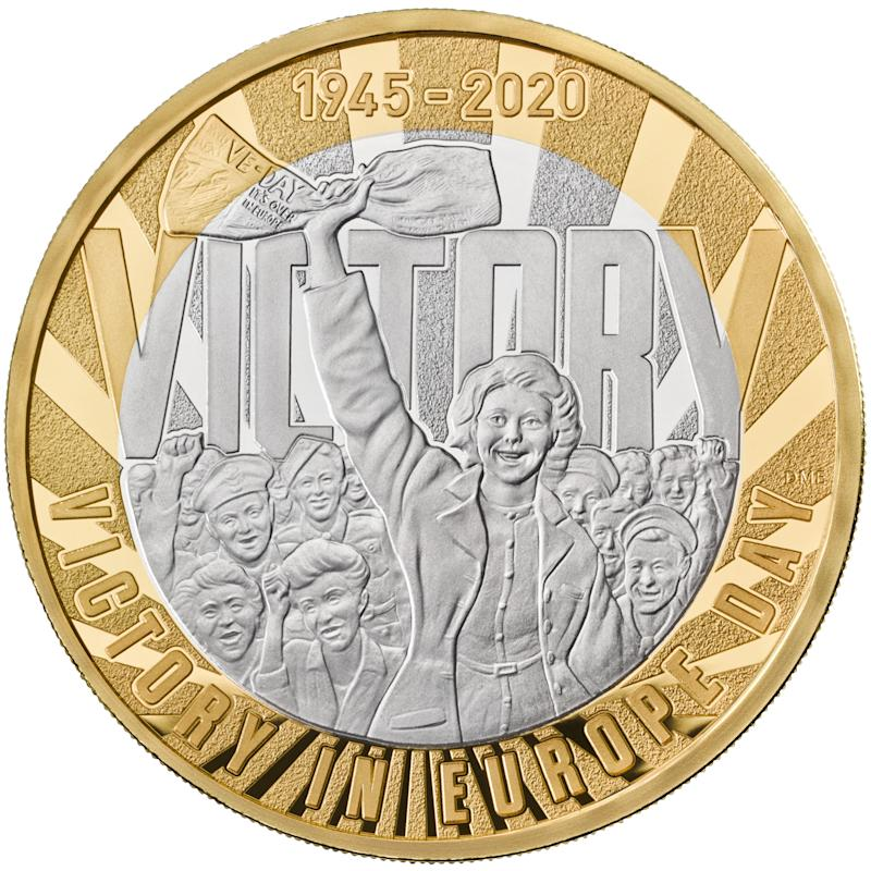 The VE Day coin (The Royal Mint/PA Wire)