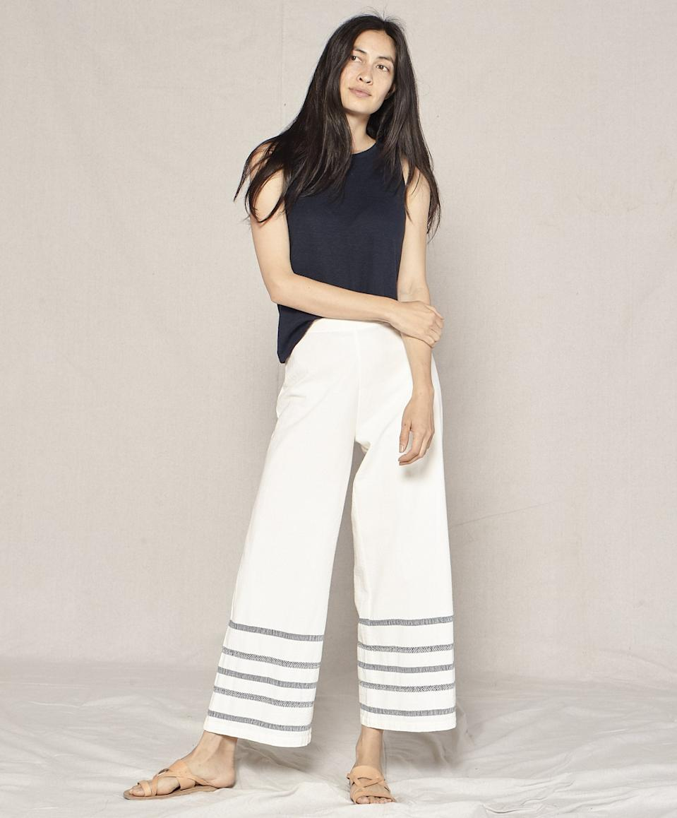 "<br><br><strong>Outerknown</strong> Meander Beach Pants, $, available at <a href=""https://go.skimresources.com/?id=30283X879131&url=https%3A%2F%2Fwww.outerknown.com%2Fproducts%2Fmeander-beach-pants-half-light%3Fvariant%3D13310903091223"" rel=""nofollow noopener"" target=""_blank"" data-ylk=""slk:Outerknown"" class=""link rapid-noclick-resp"">Outerknown</a>"
